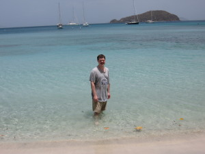 Chris in Cinnamon Bay