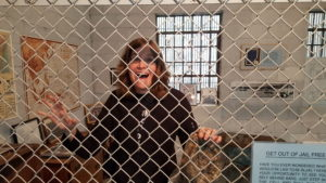 Michelle in the brig