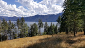 Lake Pend Oreille via hiking trail
